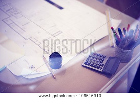 Working Table Architecture Project Planning Concept