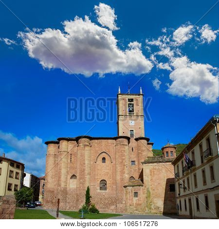 Najera Plaza Mayor The way of Saint James in La Rioja of Spain