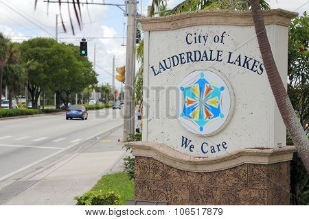 City Of Lauderdale Lakes Sign
