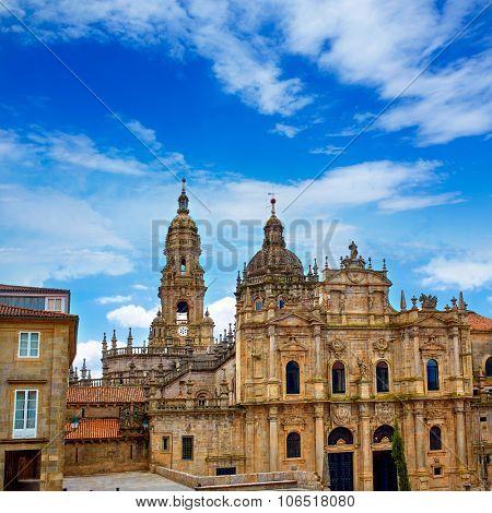 Santiago de Compostela Cathedral end of Saint James Way in Galicia Spain