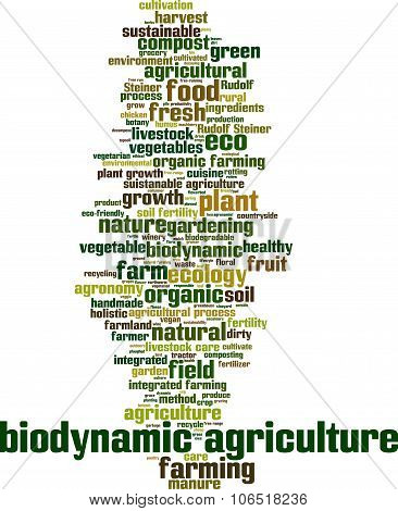 Biodynamic Agriculture Word Cloud Concept. Vector Illustration