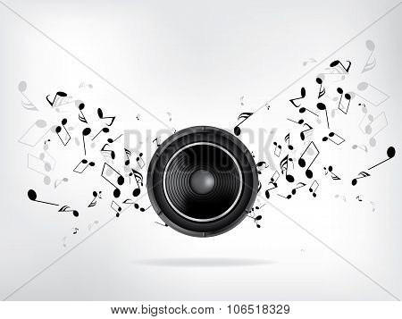 Abstract music retro grunge background. Abstract vector illustration with background.