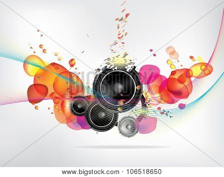 abstract music background. Abstract vector illustration with background.