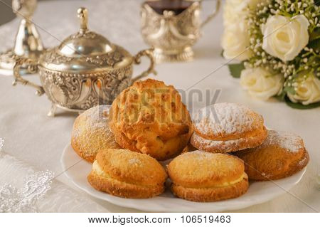 Biscuits on a plate