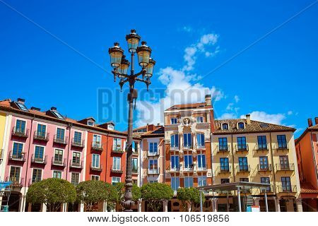 Burgos Plaza Mayor square in Castilla Leon of Spain