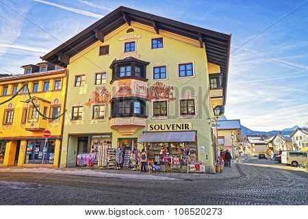 Charming Small Bavarian Town With Lovingly Painted Houses
