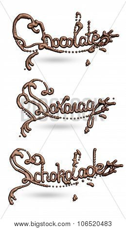 Chocolate Liguid Lettering