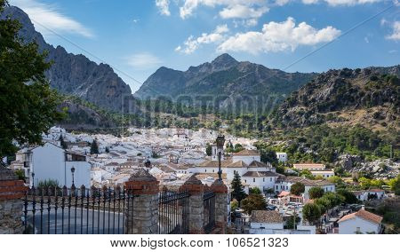 Famous Old Hilltown Of Grazalema In Andalucia