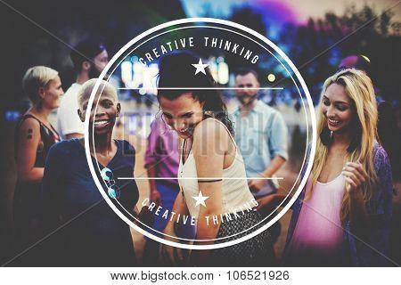 Diverse Ethnic Celebrating Enjoyment Playful Concept