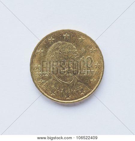 Greek 10 Cent Coin