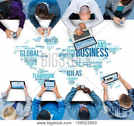 Global Business Opportunity Growth Organization Concept