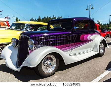 Classic Purple and White 1935 Chevrolet
