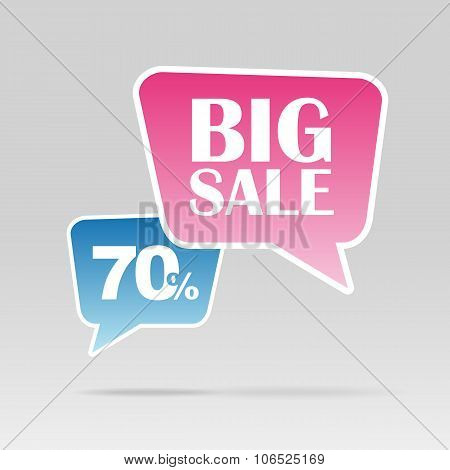 Retail Sale Speech Bubble, Discount