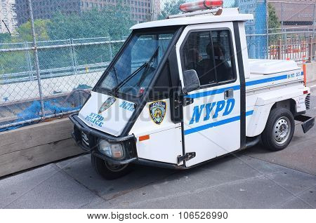 Nypd Police Scooter 3 Wheeler Car