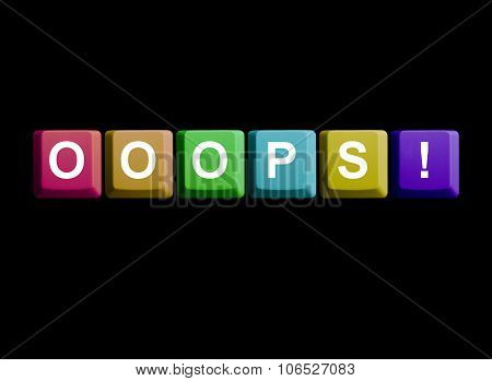 Computer Keyboard On Black: Ooops