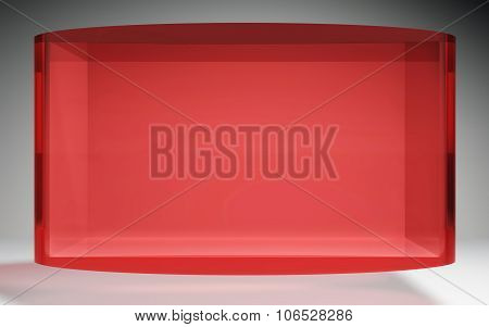 Futuristic Crystal Pop Display Stand Red