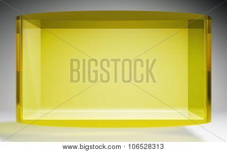 Futuristic Crystal Pop Display Stand Yellow