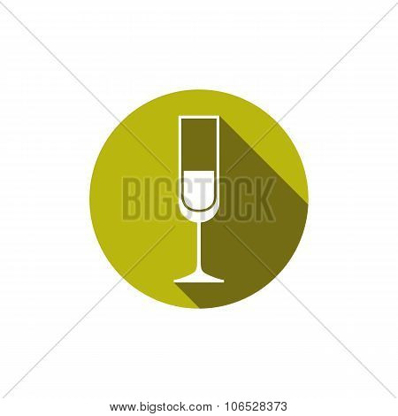 Horeca Graphic Element, Champagne Glass. Alcohol Theme Conceptual Symbol.