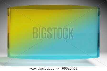 Futuristic Liquid Crystal Display Blue Yellow
