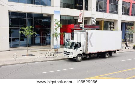 White Delivery Van Truck