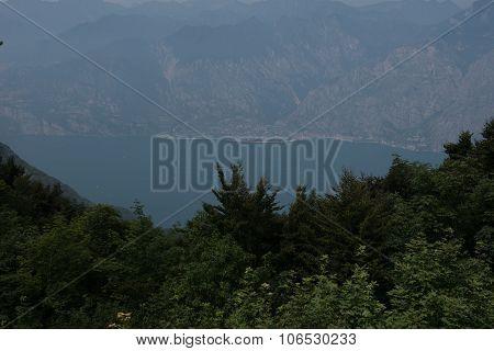 Panorama View On Limone. Lake Garda, Italy