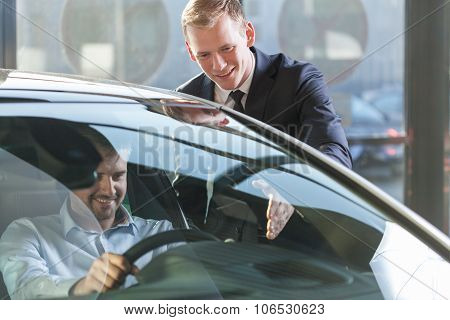 Car Dealer With Client