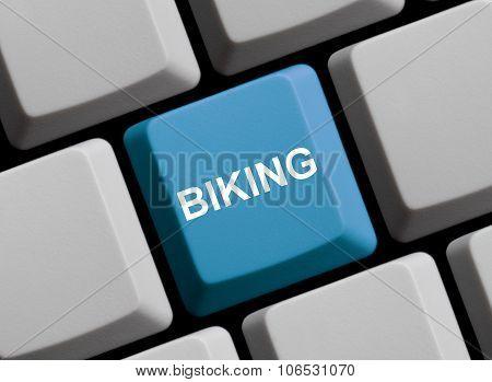 Blue Computer Keyboard: Biking
