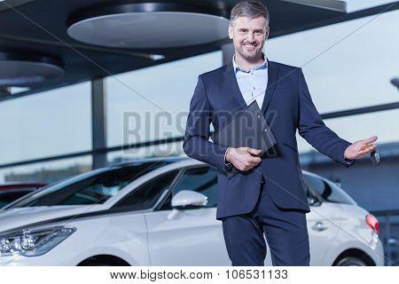 Car Buyer With Keys