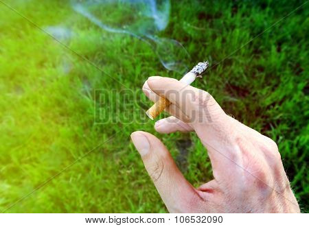 Cigarette In The Hand