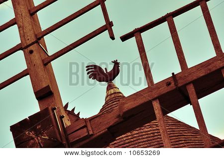 Weathercock On Wind Mill