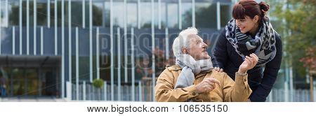Wheelchair Man Outdoor