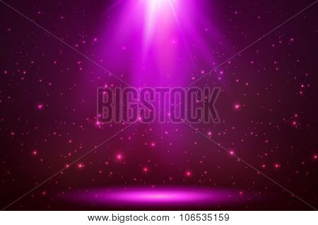 Pink vector magic top light in darkness
