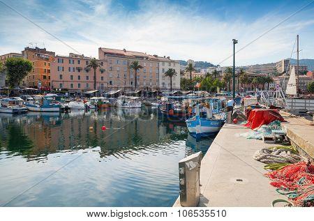 Ajaccio Port, Corsica. Small Fishing Boats