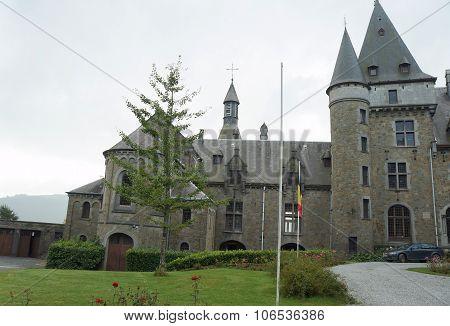 Beautiful medieval castle in Belgium