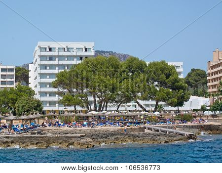 Coastal resort and white hotel