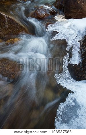 Icy River Stream