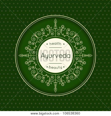 Elegant Poster For Ayurveda Center.