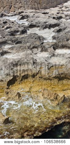 Eroded limestone rock