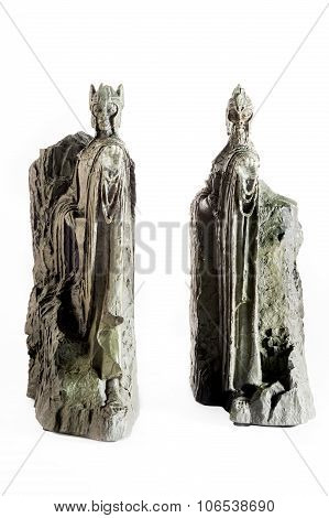 Zagreb, Croatia - January 23: Lord Of The Rings Figurine Showing The Argonaths, Kings Of Gondor, Isi