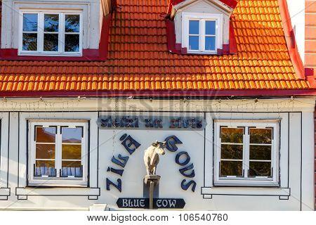 Riga. Blue Cow Restaurant.