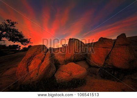 Sunrise At Enchanted Rock State Park, Tx