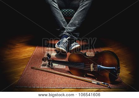 Violinist And His Instrument