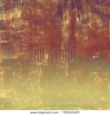 Grunge colorful background or old texture for creative design work. With different color patterns: yellow (beige); brown; gray; red (orange)