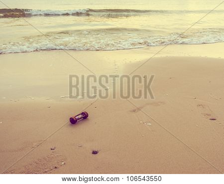 Image Of Sea And Sandglass