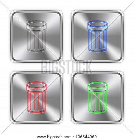 Color Trash Steel Buttons