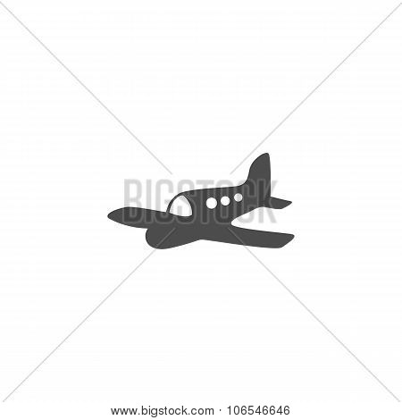 Aircraft or Airplane Icon Vector Silhouette.