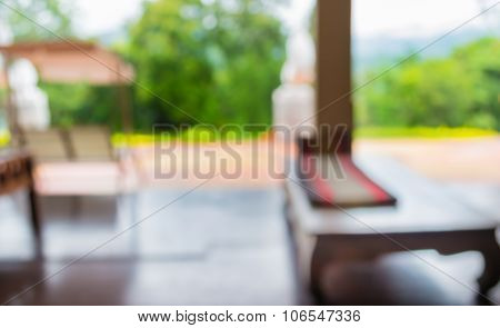 Image Of Blur Living Room With Open Space