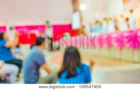 Image Of Blur Kid 's Show On Stage At School