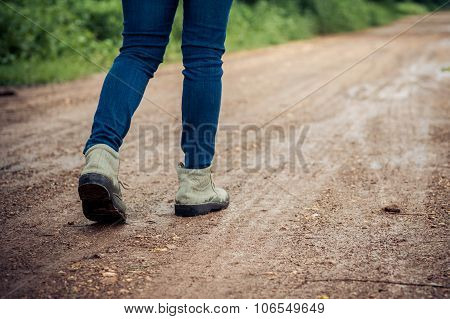Woman Traveller Walk
