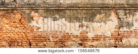 Antique And Old Red Brick Wall Texture